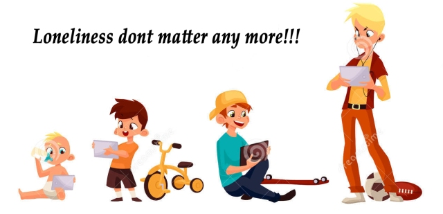 children-play-smartphone-tablet-boy-different-ages-played-did-not-street-vector-cartoon-concept-todays-70502135