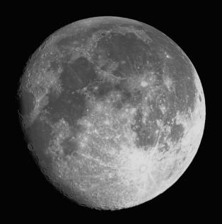 Moon shot from telescope